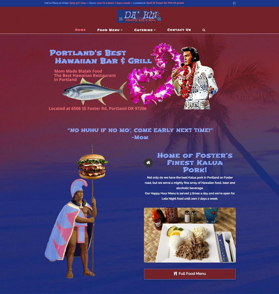 Da' Hui web site design King Elvis Kamehameha