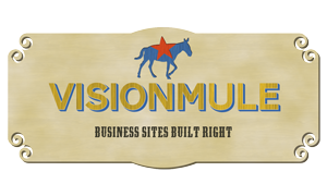 VisionMule business sites built right sign